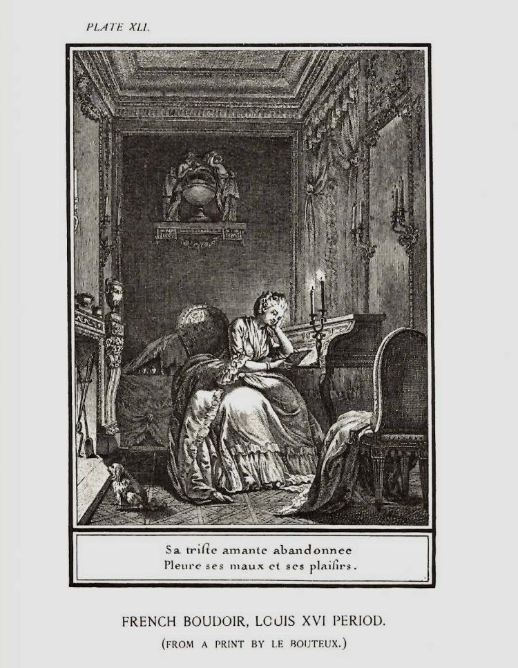 Plate of French Boudoir, Louis XVI Period