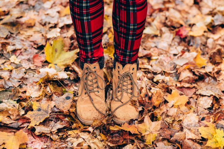 The sounds of fall - boots in leaves