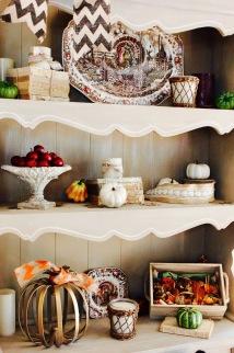 Fall Decorating Shelves