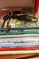 keys on top of home books